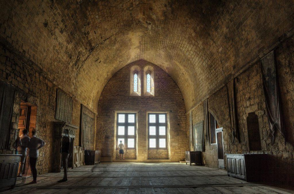 Vue intérieur du chateau de Beynac en Dordogne